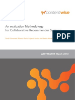 An Evaluation Methodology for Collaborative Rec Om Mender Systems