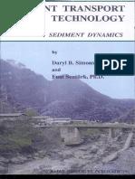 Sediment transport technology- By Daryl B. Simons- Fuat Şentürk