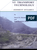 Sediment transport technology- By Daryl B. Simons- Fuat Şentürk