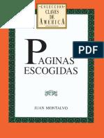 Paginas Escogidas Juan Montalvo