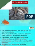 Fresh Water Fish Culture