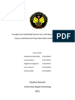 Data Nilai Ekonomi 100 Siswa IPS SMA Negeri 1 Temanggung