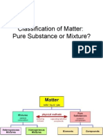 Pure Substances vs Mixtures