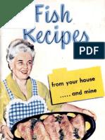 338020 Fish Recipes Cookbook 1952