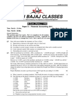 DU B.com(H) First Year (Financial Acc.) - Q Paper 2011
