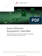 Green Ethernet Code Red ARICENT