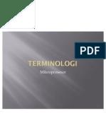 Mikroprosesor - Terminologi