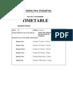 Help Programme Timetable 2012