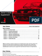 Roush Stage 3 Mustang Owner's Guide Supplement