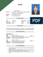 Resume Siti Noor Huda Bt Rawi