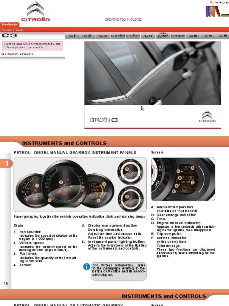 Citroen C3 Owners Handbook | Air Conditioning | Fuel Economy In Automobiles