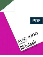 McIntosh MAC-4200 Owners Manual