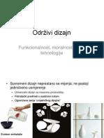 Održivi dizajn - funkcionalnost, moralnost, nove tehnologije
