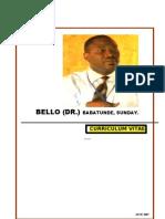 Curriculum Vitae -Dr b Bello-june 2007
