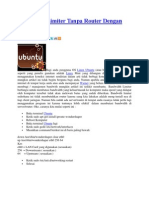 Bandwidth Limiter Tanpa Router Dengan Ubuntu