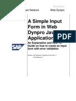 A Simple Input Form in Webdynpro Java