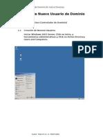 Creación de Usuario de Dominio en Active Directory