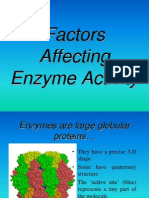 Factors Affecting Enzyme Activity