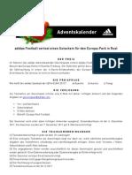adidasfootball - Adventskalender Europa-Park