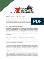 O fórum de defesa de educadores sociais