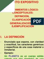 El texto expositivo - Procedimientos lógico conceptuales