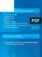 Re Insurance Markets and Regulation