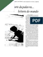 PAULO FREIRE - Alfabetização - Leitura do mundo, leitura da palavra