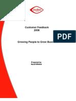 Customer Feedback Report 2008