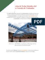 Construcción de Techo Metalico del Coliseo Cerrado de Urubamba