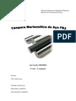MCM1 Trabalho final- Têmpera Martensítica