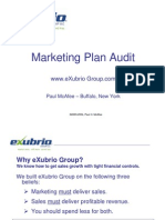 eXubrio Marketing Plan Audit