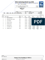 FINA / ARENA Swimming World Cup 2008, Belo Horizonte, Brazil Women's 200 M IM Final