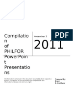 Compilation of PHILFOR Power Point Presentations