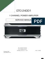 GTO24001 service manual