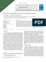 2_Fabrication and photocatalytic activity of TiO2 nanofiber membrane 2009