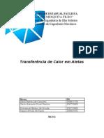 Relatório 3 -Transferencia de calor de Aletas