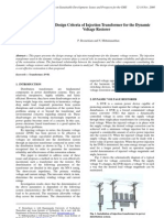 Simple Design Criteria of Injection Transformer for the Dynamic Voltage Restorer