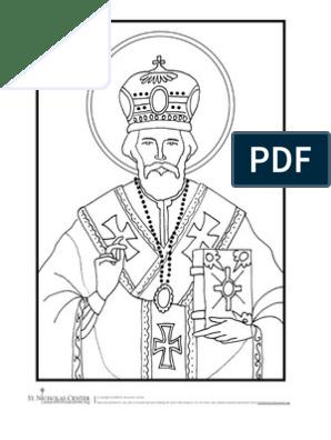 Planse De Colorat Sf Nicolae