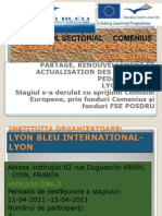 Activitatea de are a Cursului Lyon Bleu International