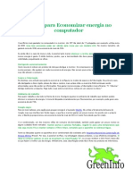 Ajustes Para Economizar Energia No or