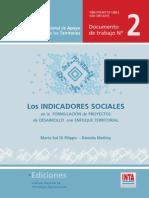 Los indicadores sociales en la formulación de proyectos