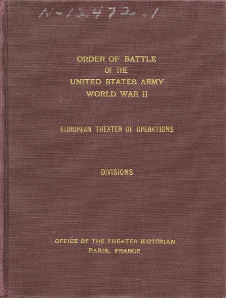 Order of Battle of the United States