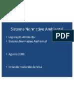 Sistema Normativ Ambiental Aula01