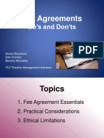 Fee Agreements Dos and Donts