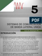 SISTEMAS DE COMUNICACIÒN DE BANDA LATERAL ÚNICA