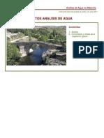 Análisis Agua de la Puente 2011