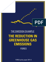 The Swedish Example - The reduction in greenhouse gas emissions