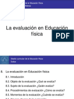 8. La evaluación en Educación física