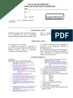 Taller de Redacción y Disertación Jurídica programa