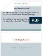 RTHS Flag Code Lesson Power Point